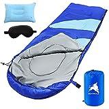 Saco de Dormir para Camping, 3 Estaciones, Impermeable, Ligero, con Bolsa de compresión, Ultraligero y Compacto, Ideal para Senderismo, Senderismo y Camping