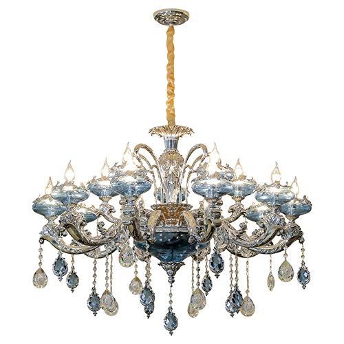 XXYHYQHJD Crystal LED de la lámpara de la lámpara 15 Diámetro 95cm Alto 60cm for 15-30m2 Shop Villa Restaurante Escaleras Colgante de luz