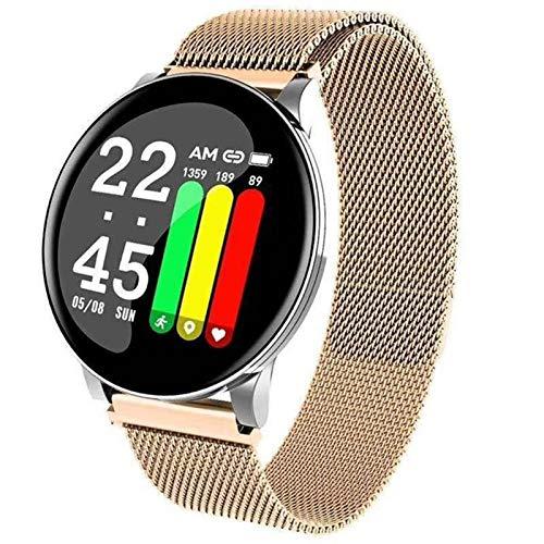 LXZ W8 Smart Watch Herren Herzfrequenz Blutdruckuhr Runde Smartwatch Damen Sport Gesundheit IP67 wasserdichte Smart Armband Für Android Ios,F