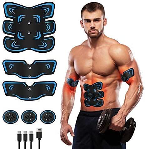 Fediman EMS Trainingsgerät,EMS Bauchmuskeltrainer,Bauchtrainer Elektrisch für Bauch, Arm, Bein-Fitness Trainings Gang,USB-Wiederaufladbarer Tragbarer Muskelstimulator