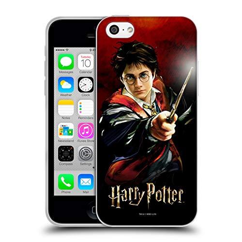 Head Case Designs Oficial Harry Potter Harry Portrait Prisoner of Azkaban II Carcasa de Gel de Silicona Compatible con Apple iPhone 5c