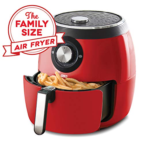 Dash DFAF455GBRD01 Deluxe Electric Air Fryer + Oven Cooker with Temperature Control,...
