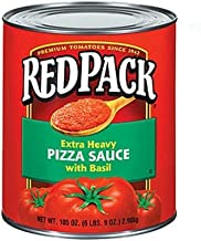 Red pack Pizza Sauce with Basil #10, Pack of 6
