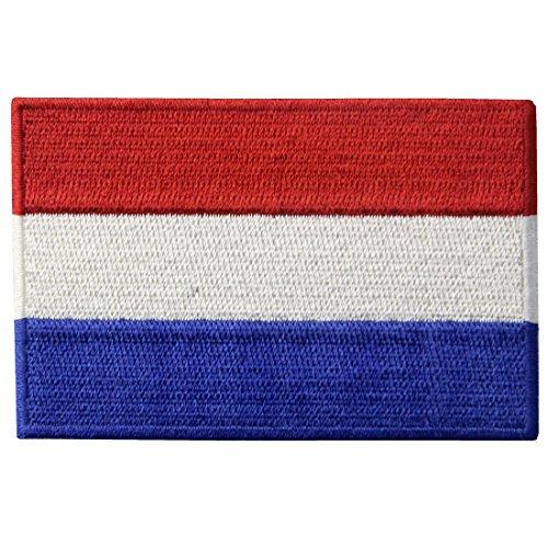 Die Niederlande Flagge Gestickt Holland National Emblem Niederländischen Eisen Auf Nähen Auf Patch