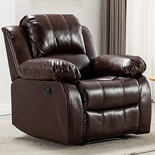 Bonzy Home Air Leather Recliner Chair Overstuffed Heavy Duty Recliner -...