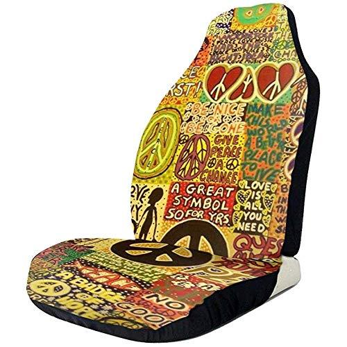 Autositzbezüge Peace Rocks Hippie Love Music Oldtimer Sitzkissen Gruppenpaar Schalensitzbezug