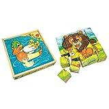 Bino Europe- Cubos de dibujos, animales (84173) , color/modelo surtido