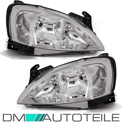 DM Autoteile Corsa C Klarglas Scheinwerfer Links Rechts Chrom H7/H7 VALEO SYSTEM 00-02