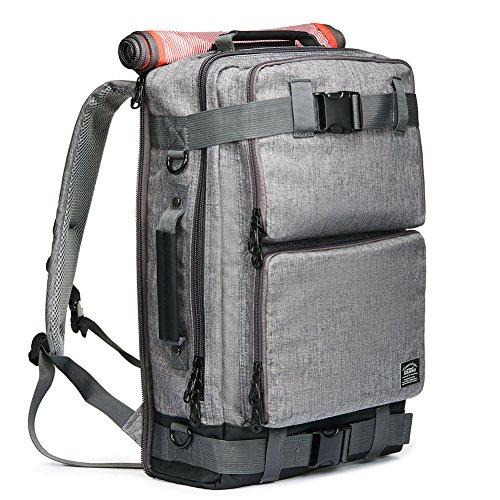 Laptop Rucksäcke 17 Zoll, Kaukko Multifunktions Rucksack Damen Herren Schulrucksack Lässig Stylisch Backpack für Outdoor Reisen Wandern Camping Bergsteigen Fit für 15,6
