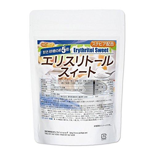 【砂糖の甘さ 約5倍】 エリスリトールスイート 200g ステビア 配合 [05] エリスリトール NICHIGA(ニチガ)