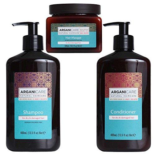 Arganicare Shampoo, Conditioner & Hair Mask 3 Piece Value Pack