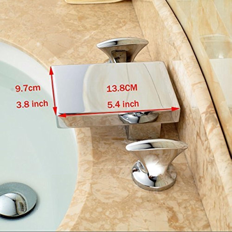 Chrom fertig Dual Griff Waschbecken Waschbecken Armaturen Deck Mount Hei Kalt wasser Sanitr Wasserhahn