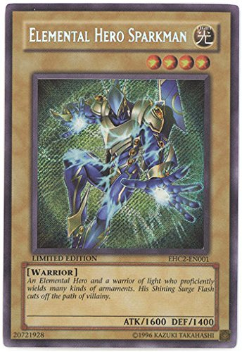 Yu-Gi-Oh! - Elemental Hero Sparkman (EHC2-EN001) - Elemental Hero Collection 2 - Limited Edition - Secret Rare