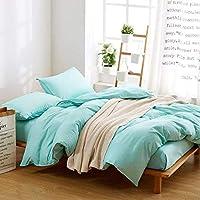ホームアクセサリー寝具セットピュアバイオレット寝具セット3 / 4pcs大人用ベッドリネンセット日本式羽毛布団カバーブラシマイクロファイバーベッドセット秋の寝具フラットシートライトプルプルグレーキング