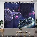 S-tar W-ars Battlefront Death Planet Space Planet - Cortina para dormitorio (84 x 84 cm)