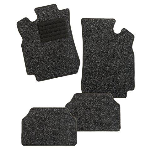 CarFashion 254819 Auto Alfombra Soporte sin Juego de alfombrillas para Matte plana BasicRips-Textil, Negro, 4-Piezas