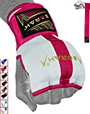 EMRAH Cinta Boxeo Vendas Mano Muñeca Elasticas Interiores Guantes MMA Envolturas Vendaje Kick Boxing -X (Medio, Rosado)