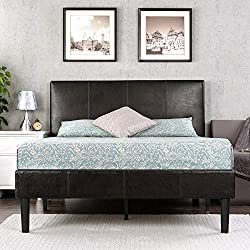 Zinus Deluxe Faux Leather Upholstered Platform Bed with Wooden Slats, Full Review