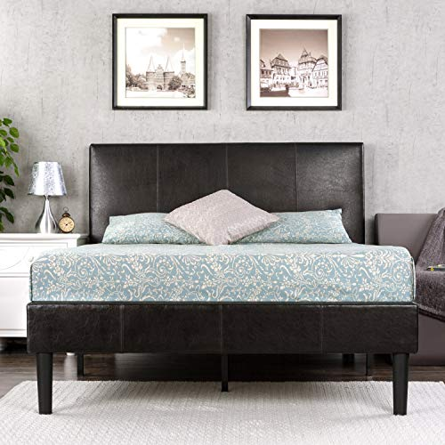 Zinus Gerard Faux Leather Upholstered Platform Bed Frame /...