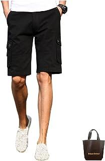 ハーフパンツ メンズ 5分丈 おしゃれ ブランド 無地 柄 黒 カーゴパンツ