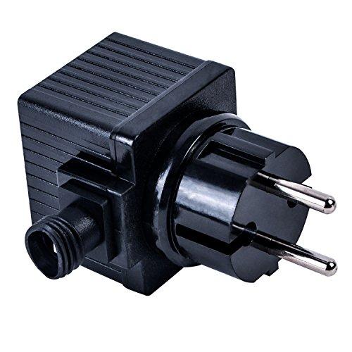 Köhko Trafo 12V 9,6 VA/W AC Netzteil für Außenbereich (IP44) LED-Beleuchtung und Pumpe Transformator 800 mA 29016-800