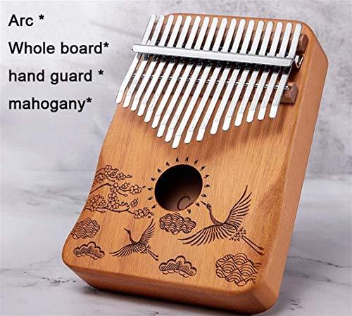 NIHAOA Tragbare Daumenklavier 17 Keys Kalimba Daumenklavier Mahagoni Finger Klavier Kind Schüler Anfänger Musikinstrument (Farbe: 10 Tasten Weiß Kiefer) (Color : Mahogany)
