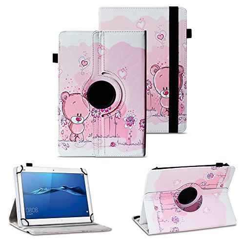 NAUC Robuste Tablet Schutzhülle für Huawei MediaPad T1 T2 T3 7.0 aus Kunstleder Hülle Tasche Standfunktion 360° Drehbar Cover Hülle Universal, Farben:Motiv 1