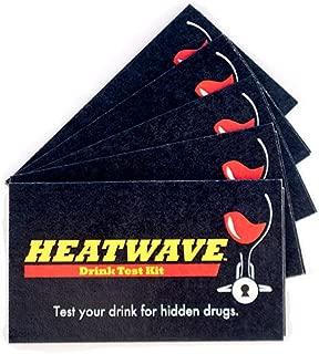 Heatwave 5 Card - 10 Tests Date Rape Drug Detection Kit.