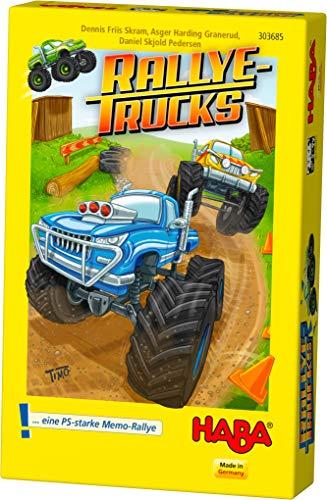 HABA 303685 - Rallye, gioco per bambini dai 5 anni in su, con quattro stampe in legno