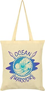 Ocean Warrior Tote Bag Cream 38x42cm