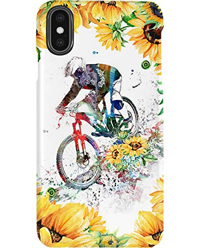 Mountain Bike for All Current iPhone and Samsung Series - Glass/Silicon case with 3D Printing Design, Slim Fit, Scratch-Resistant, Shock-Proof, Compatible - Phone case