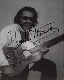 Charles Manson Autographed B&W Paper Stock Photo