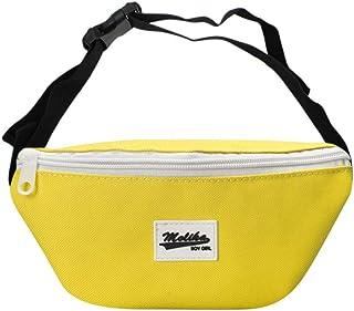 Happy Cartoon Yellow Pineapple Sport Waist Bag Fanny Pack Adjustable For Travel