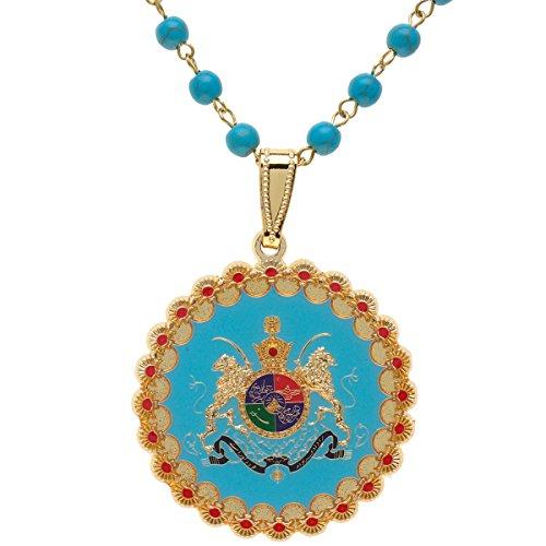Asoodehdelan Silver PT Iran Map Faravahar Necklace Iranian Persian Zoroastrian Farvahar Persia Chain (Leather String)