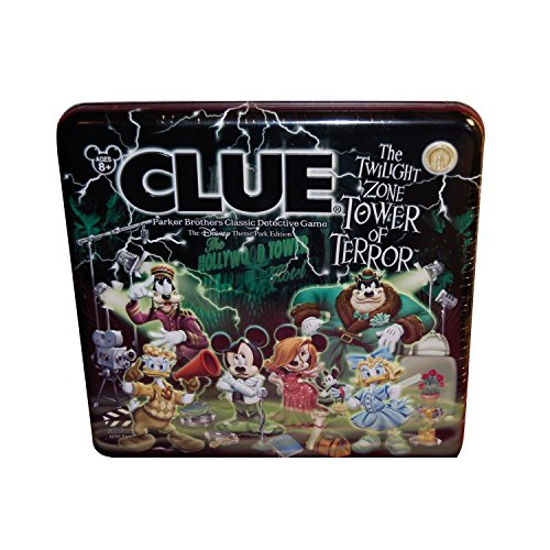 Clue The Twilight Zone Tower of Terror Disney Theme Park Edition by Parker Brothers