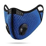 Materiale: Maschera per il viso con filtri PM 2.5 in morbido cotone, traspirante, lavabile e riutilizzabile. Facile da usare: la valvola di espirazione integrata consente all'aria di entrare e trattenere l'umidità, consentendoti di respirare facilmen...