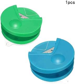Ogquaton Durable, forma redonda, cortador de ángulo, cortador de papel, cortador de foto portátil, fabricante de ángulos para uso en el hogar de oficina 1PCS verde