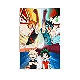 NUOMANAN Mural de lujo My Hero Academia, Iku y Katsuki Side by Side Anime Edición Limitada 20 x 30 cm, póster de película bellamente decorado habitación de los niños sin marco/enmarcar
