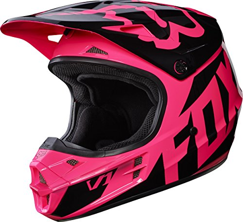 Fox Racing 2017 Race Adult V1 Motocross Motorcycle Helmets - Pink / Medium