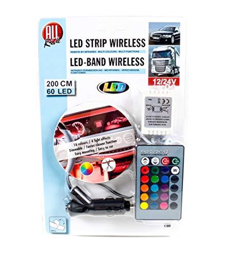 All Ride LED-Deko-Band, außen mit Infrarot-Fernbedienung, Mehrfarbig, multifunktional, 12/24V, 60 LEDs, 200cm