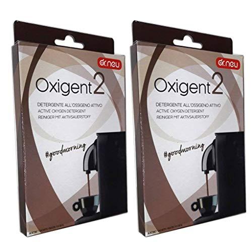 Oxigent Dr. Neu - Limpiador de oxígeno activo en polvo para la limpieza de la máquina de café, elimina las grasas, descontamina e higieniza
