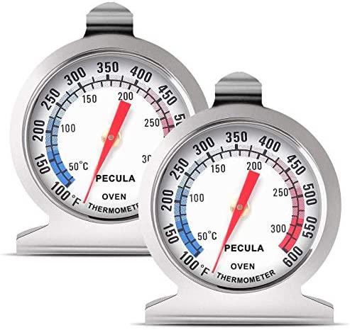 Oven Thermometer 2 Pack 50 300 C 100 600 F Oven Grill Fry Chef Smoker Thermometer Instant Read product image