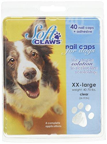 SOFTCLAWS® Krallenschutzes für Hunde Große XXLARGE Farbe Durchsichtig