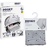 Dooky 3126204 Combi Pack Cover & Couverture dans le design Light Grey Crown Protection solaire universelle et protection contre les intempéries pour nacelle, poussette et poussette, blanc, 800 g