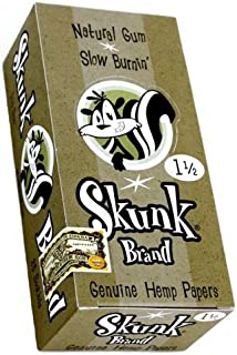 5 Pack Skunk Brand Rolling Papers 1 1/2 SIze with Free BB Sticker