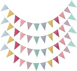 BETOY Bandiere Triangolo, 48 Bandiere Colorate Stoffa Bandiere Multicolore di Banner per Compleanno Matrimonio Decorazione...