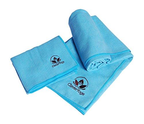 Microfiber Towel Set - Ocean Blue Non Slip Mat Towel and Matching Hand Towel