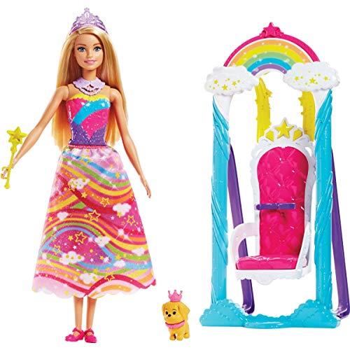 Barbie FJD06 Dreamtopia Regenbogen-Königreich Prinzessinnen-Schaukel & Puppe