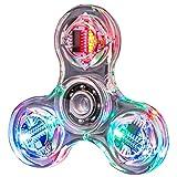 Gazaar LED Fidget Spinner Spielzeug Clear LED Light Up Fidget Finger Würfel Angst Stress Relief EDC...