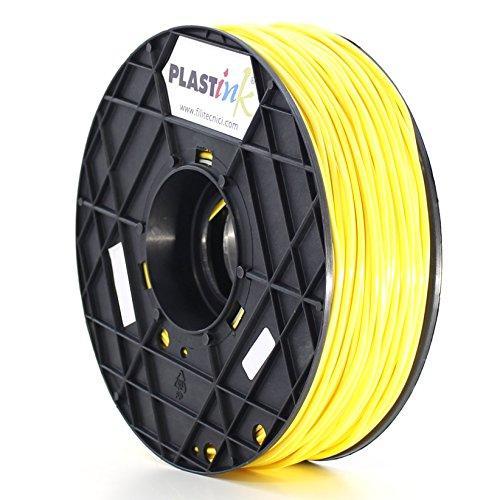 Plastink ABS300YL1 Filamento per Stampante 3D in ABS, Diametro 3 mm, Giallo
